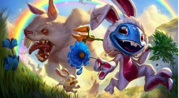 lol安哥拉巨兔菲兹原图,图片 小鱼人兔宝宝皮肤特效视频